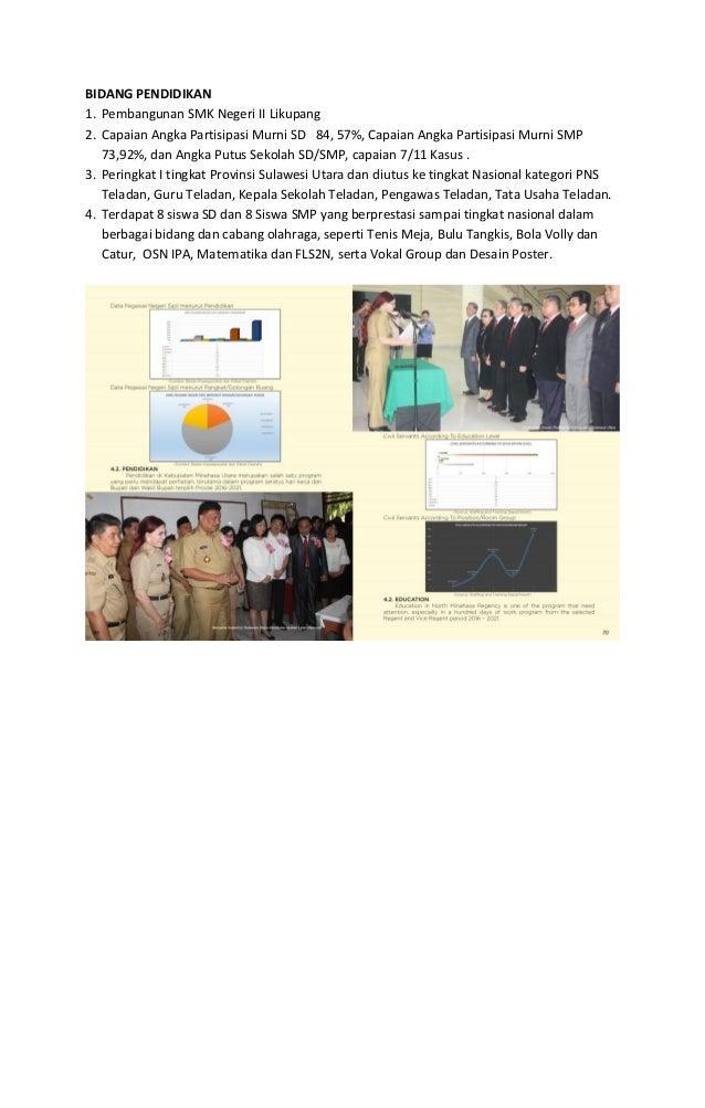 BIDANG KESEHATAN 1. Kepedulian Pemerintah Kabupaten Minahasa Utara kepada masyarakat dengan memberikan Jaminan Pelayanan K...