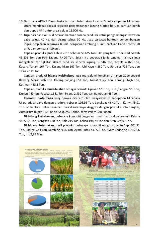 10. Dari dana APBNP Dinas Pertanian dan Peternakan Provinsi Sulut,Kabupaten Minahasa Utara mendapat alokasi kegiatan penge...