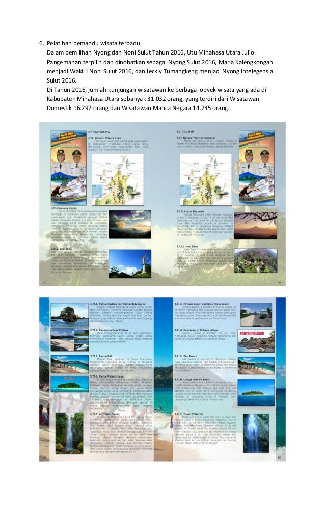 6. Pelatihan pemandu wisata terpadu Dalam pemilihan Nyong dan Noni Sulut Tahun 2016, Utu Minahasa Utara Julio Pangemanan t...