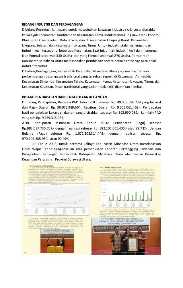 BIDANG PENDIDIKAN 1. Pembangunan SMK Negeri II Likupang 2. Capaian Angka Partisipasi Murni SD 84, 57%, Capaian Angka Parti...