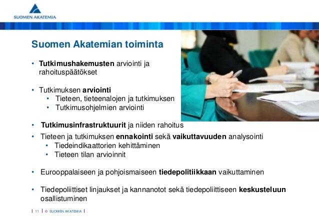 Suomen Akatemia Rahoituspäätökset