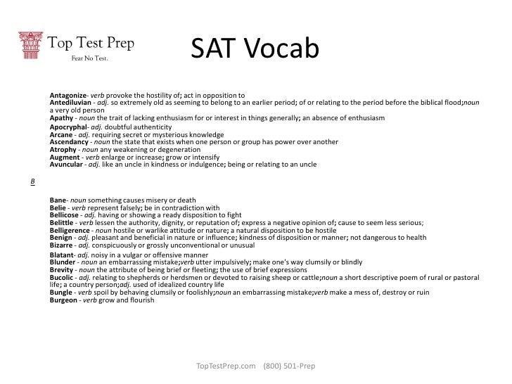 100 Top SAT Words