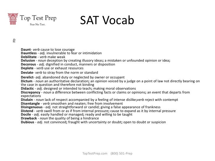 300 Most Difficult SAT Words