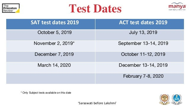 october 2020 act test date