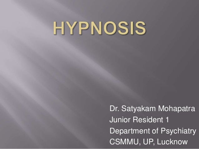 Dr. Satyakam Mohapatra Junior Resident 1 Department of Psychiatry CSMMU, UP, Lucknow