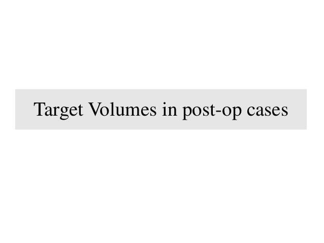 RT: Post op- cases