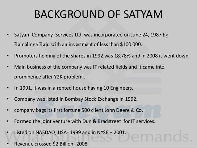 Satyam – Ramalinga Raju Resignation Letter