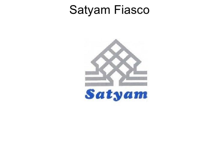 Satyam Fiasco