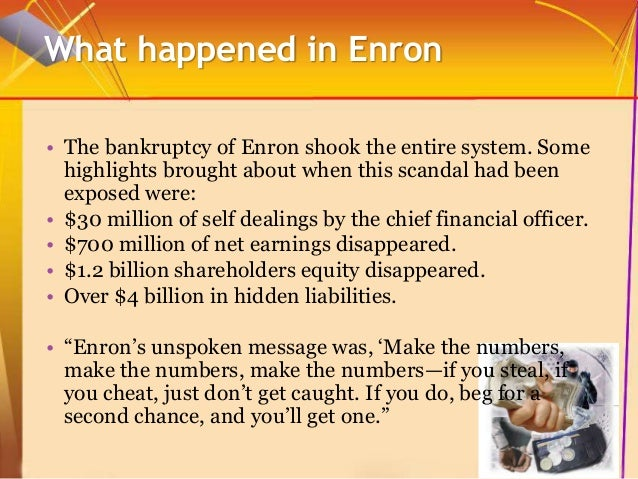 enron debacle Drekal hollins strategic management 445 marin oneka eron: the smartest guys in the room 1 consider the circumstances of the current financial crisis using the internet, look for any parallels to the enron debacle.