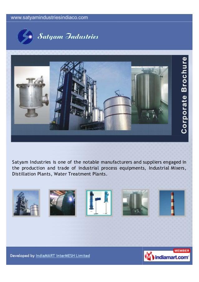 Satyam Industries, Pune, Agitators