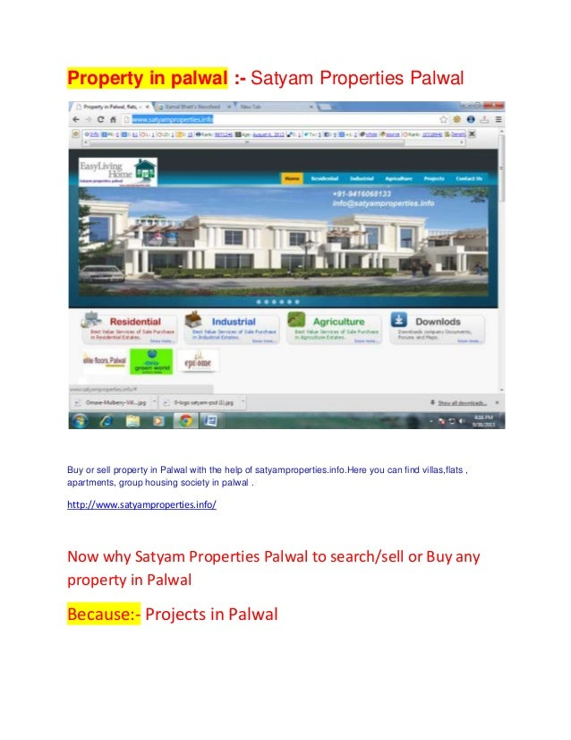 Property in palwal :- Satyam Properties Palwal Buy or sell property in Palwal with the help of satyamproperties.info.Here ...