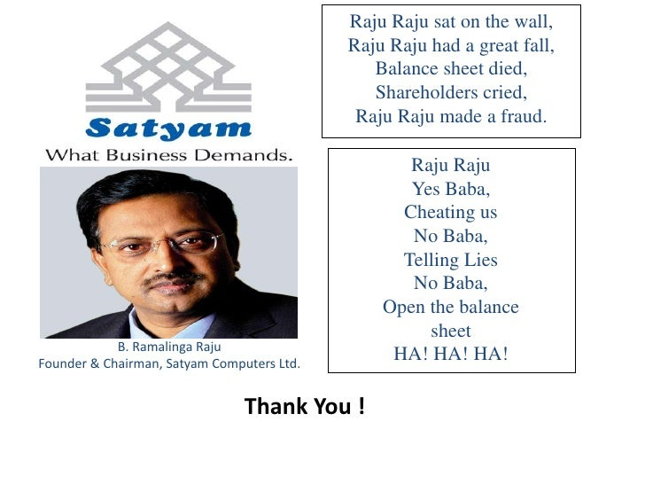 satyam fraud scam Read more about 9 years after satyam scam, price waterhouse banned from audit for 2 years on business standard nine years after satyam scam, sebi orders rs 1309-million disgorgement audit.