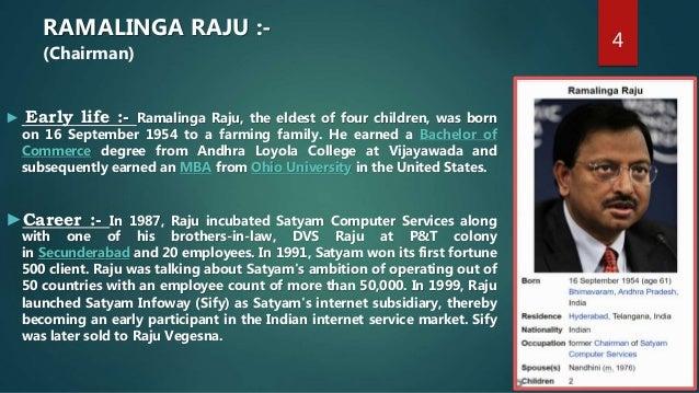 Satyam Computers scam – Ramalinga Raju Resignation Letter