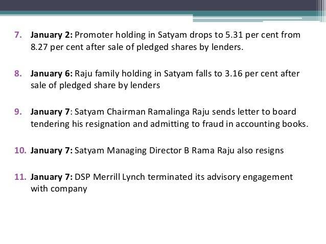 All about Satyam scandal By manpreet singh digital – Ramalinga Raju Resignation Letter