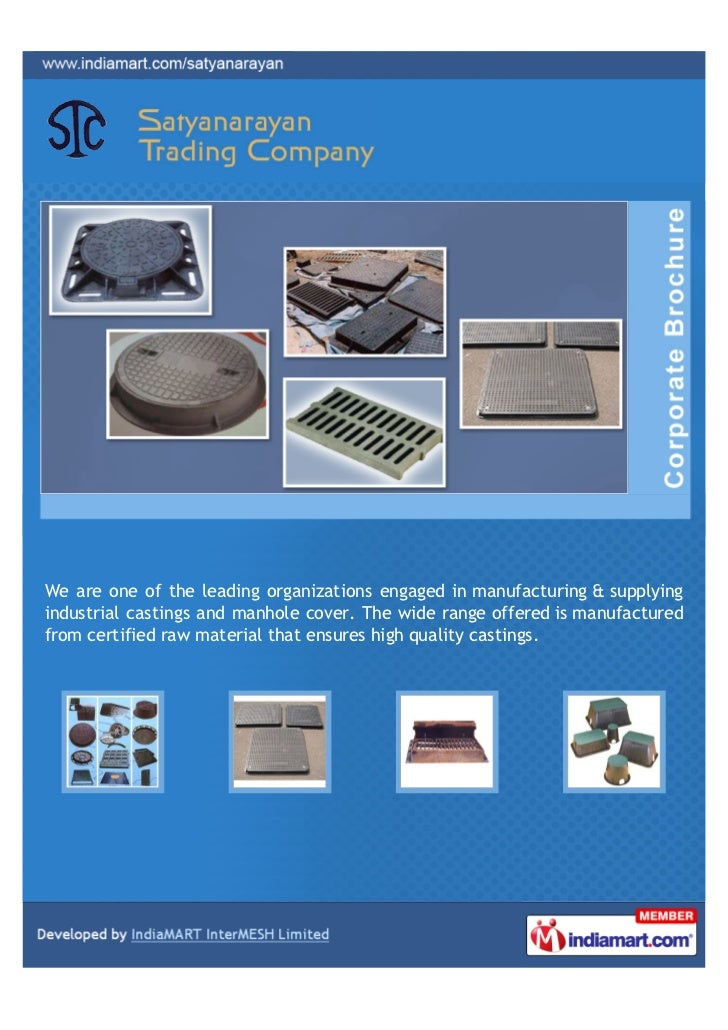 We are one of the leading organizations engaged in manufacturing & supplyingindustrial castings and manhole cover. The wid...