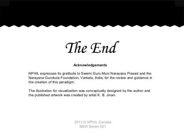 2013 © NPHIL Canada B&W Series 001 Acknowledgements NPHIL expresses its gratitude to Swami Guru Muni Narayana Prasad and t...