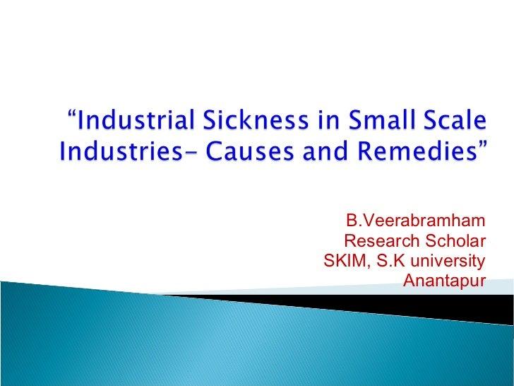 B.Veerabramham  Research ScholarSKIM, S.K university         Anantapur