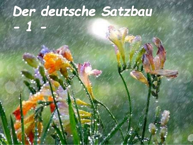 Der deutsche Satzbau - 1