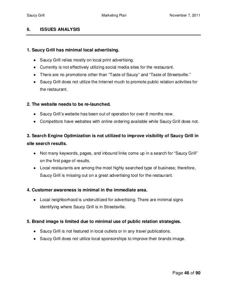 gerrys grill business plan