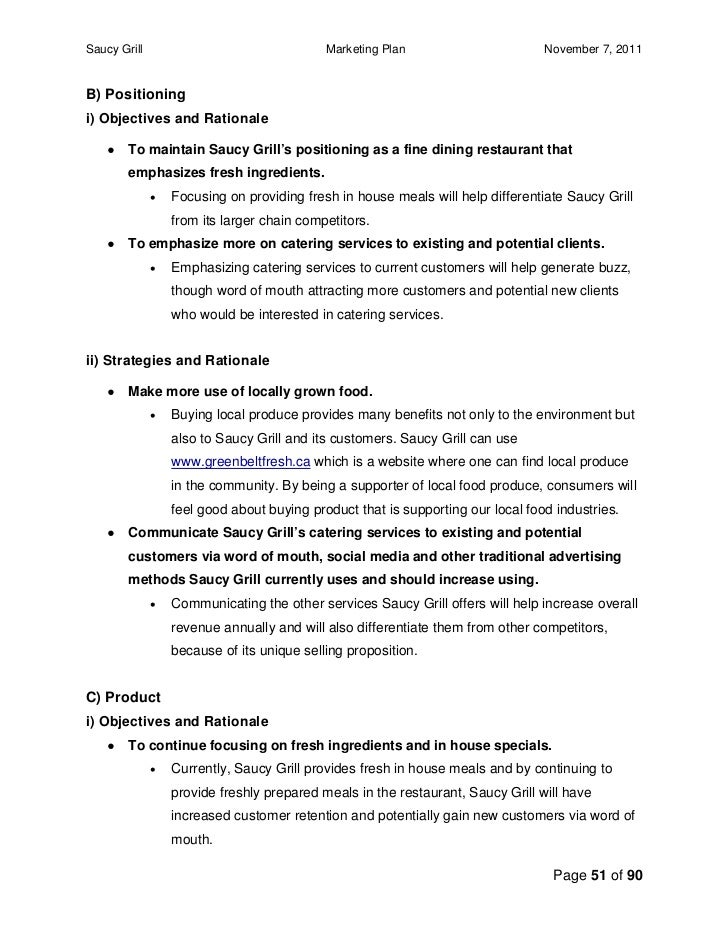 bbq catering business plan template