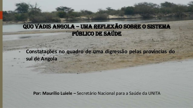 Quo vadis Angola – Uma reflexão sobre o sistema público de saúde - Constatações no quadro de uma digressão pelas província...