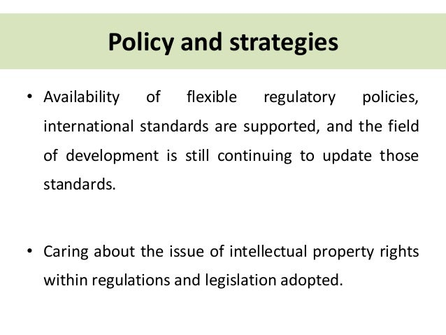 Legislation And Standards Relating To Intellectual Property