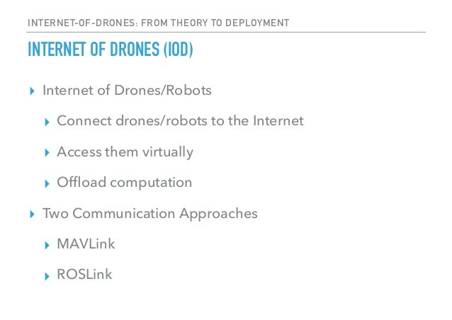 Internet-of-Drones: Cloud-based System for Drones' Management over th…