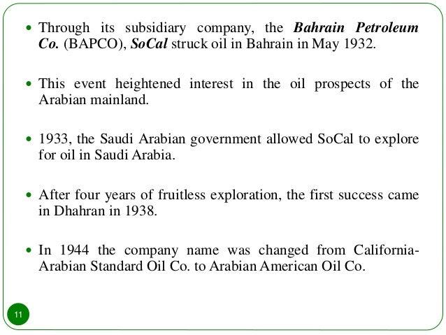 Saudi arabia and Saudi Arabian Oil Company