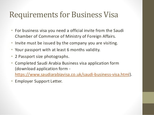 How To Apply For Saudi Arabia Business Visa