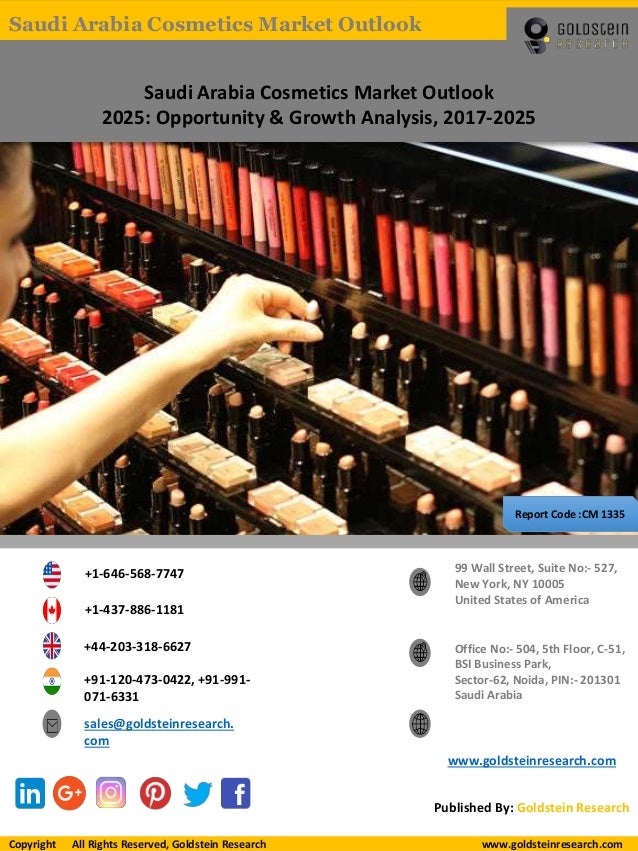Saudi Arabia Cosmetics Market Outlook 2025: Opportunity