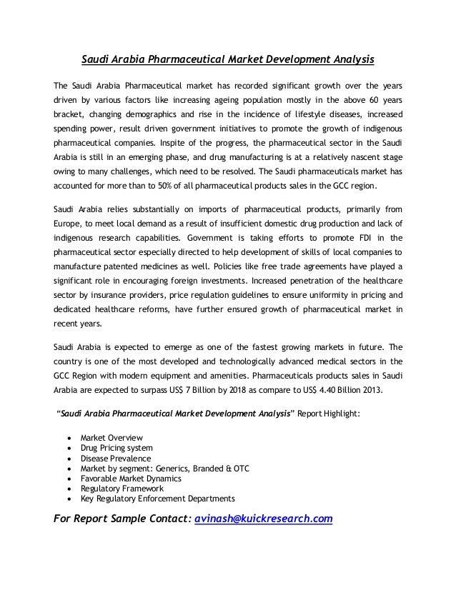 Saudi arabia pharmaceutical market development analysis