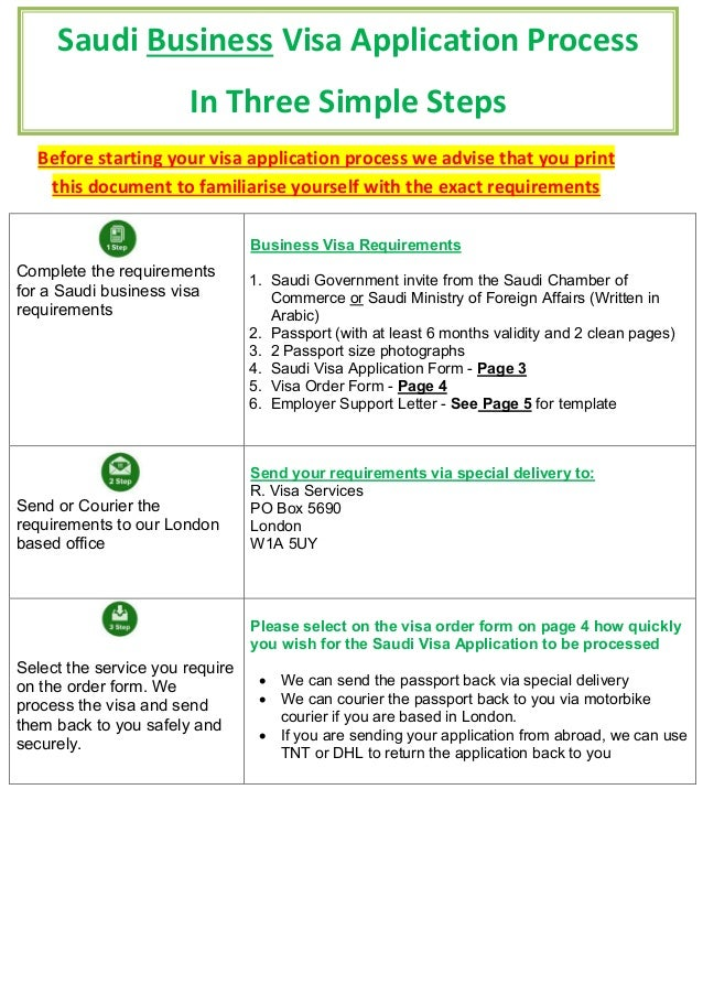 Saudi Business Visa Application Before Starting Your Visa Application Process We Advise That You Print This Document To Familiarise Yourself