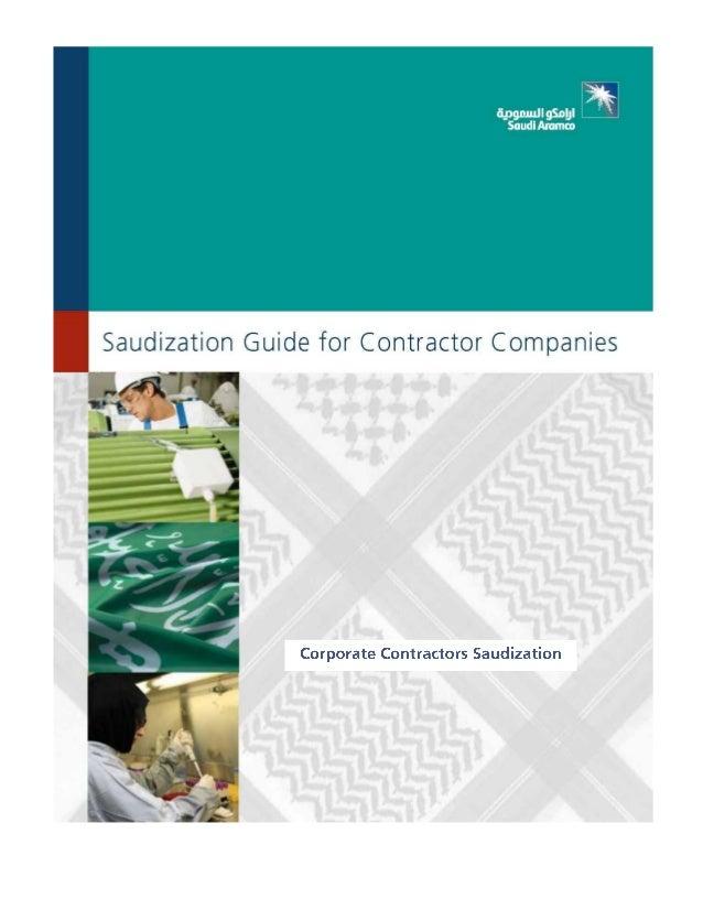 Saudization guide contractor