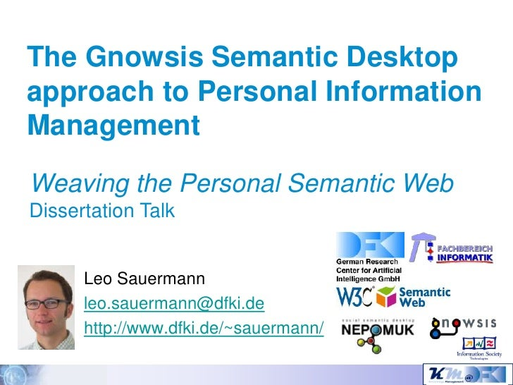 Dissertation semantic web