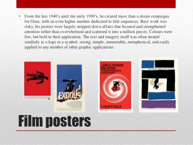 Film posters • From the late 1940's until the early 1990's, he created more than a dozen campaigns for films, with an even...
