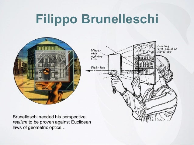 brunelleschis demonstration on the principle of Filippo brunelleschi (italian: [fiˈlippo brunelˈleski] 1377 – april 15, 1446) was an italian designer and a key figure in architecture, recognised to be the first modern engineer, planner.