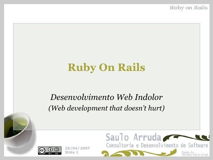Ruby On Rails Desenvolvimento Web Indolor (Web development that doesn't hurt)