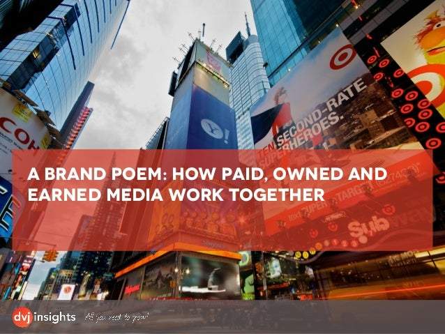 A brand poem: how paid, owned and earned media work together