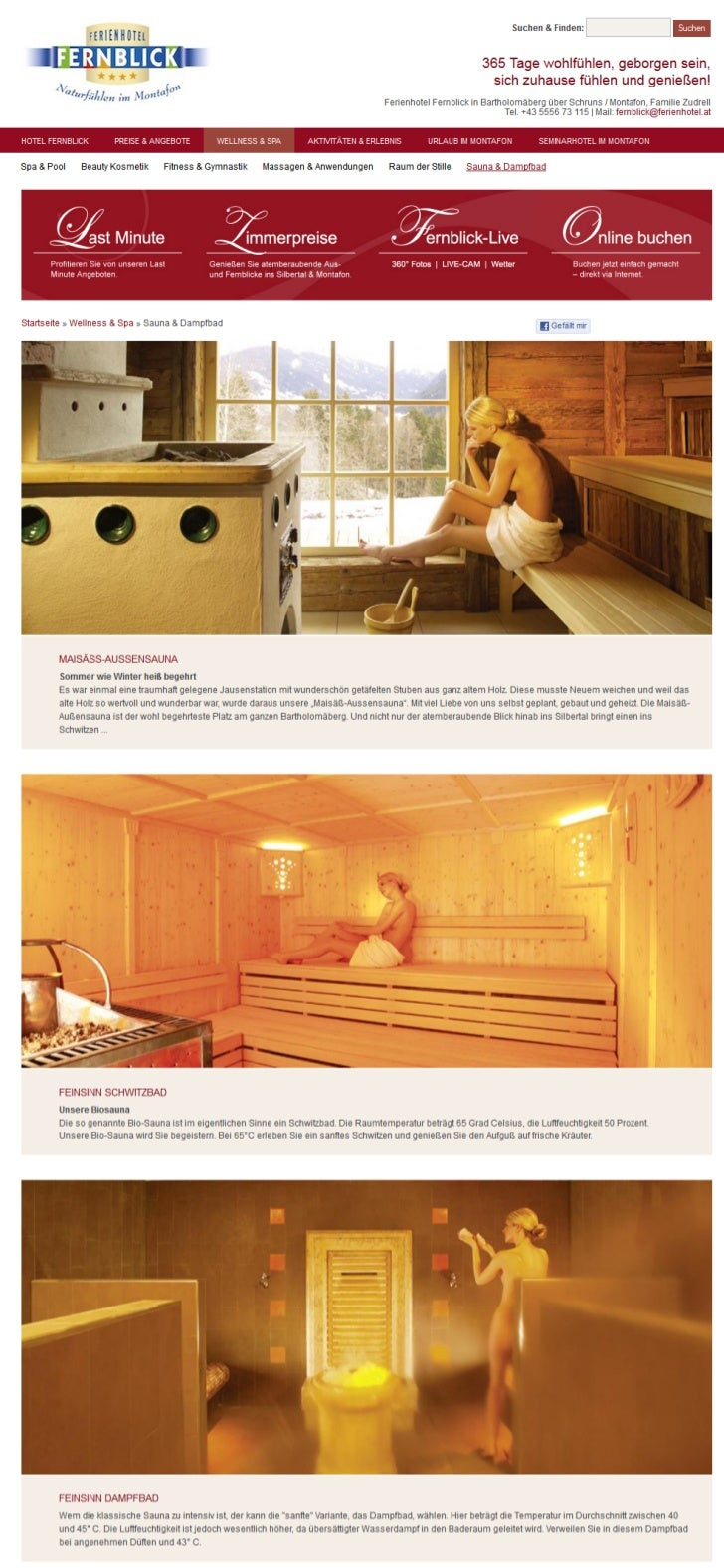 Sauna & Relaxen im Hotel Fernblick