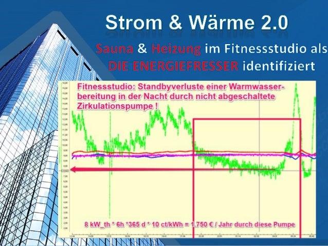 • Kleine Studios mit 15-20 kW Saunenverbrauchen etwa 40.000 kWh Strom imJahr• 40.000 kWh/a * 0,22 € / kWh ~ 8.800€/Jahrwww...