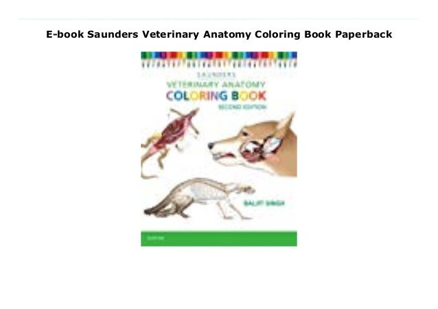 E-book Saunders Veterinary Anatomy Coloring Book Paperback
