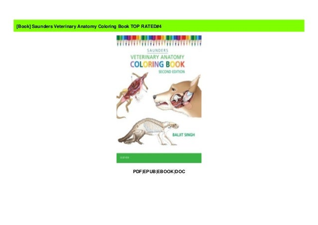 Saunders Veterinary Anatomy Coloring Book TOP RATED#4
