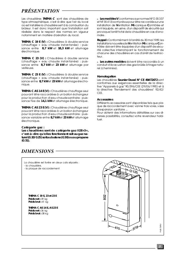 chaudiere saunier duval thema c25e thema f25e compl te ventouse gaz naturel saunier duval. Black Bedroom Furniture Sets. Home Design Ideas