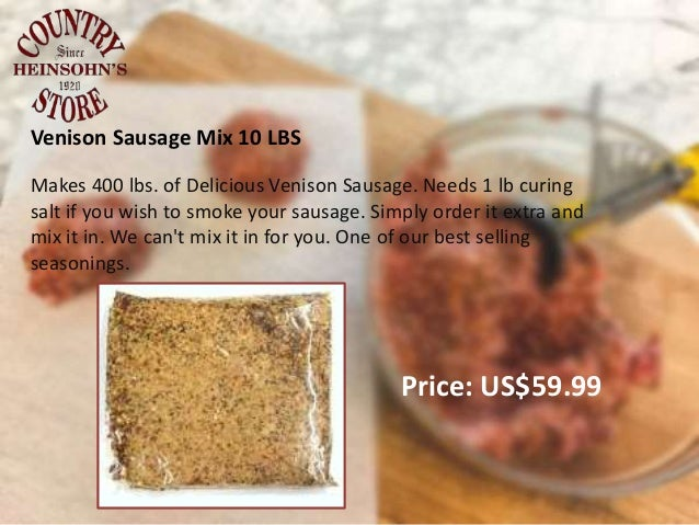 Heinsohn's Sausage Seasoning Mix and Spices