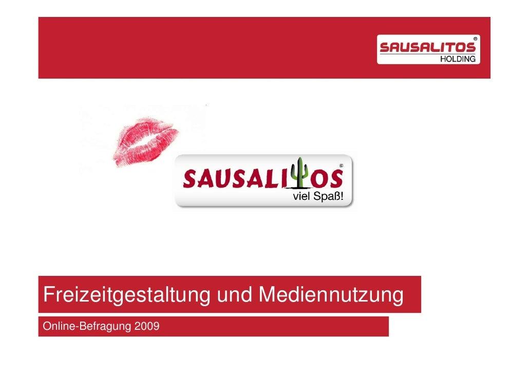 Freizeitgestaltung und MediennutzungOnline-Befragung 2009