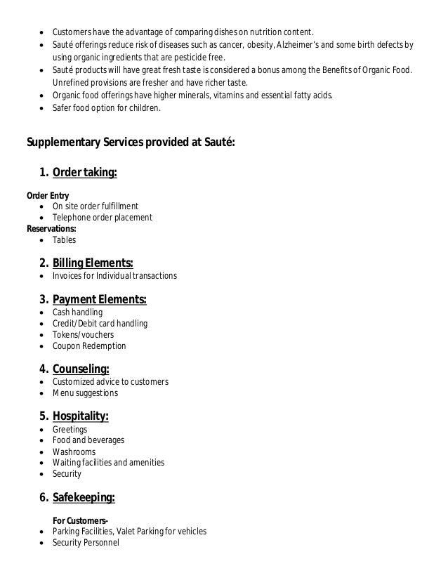 healthy food restaurant business plan