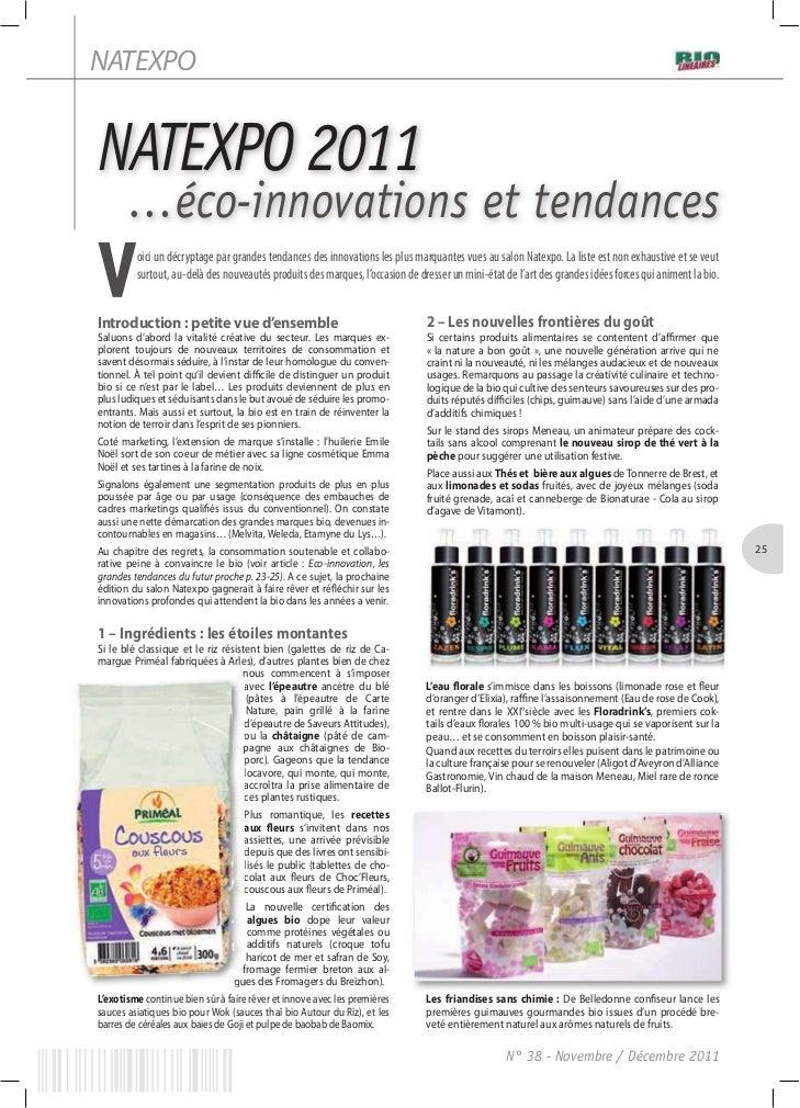 NATEXPONATEXPO 2011       …éco-innovations et tendancesV        oici un décryptage par grandes tendances des innovations l...