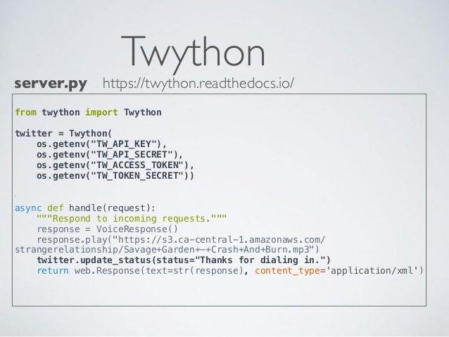 Python-Powered Savage Garden Hotline