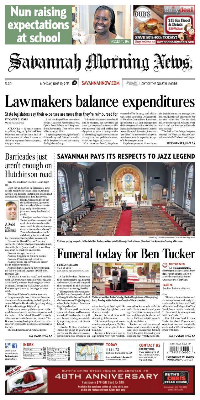 By Dash Coleman912-652-0360dash.coleman@savannahnow.comA day before Ben Tucker wasto be memorialized in a funeralandconcer...