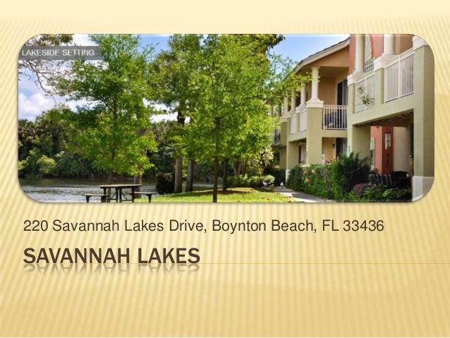 Savannah Lakes Apartments Boynton Beach